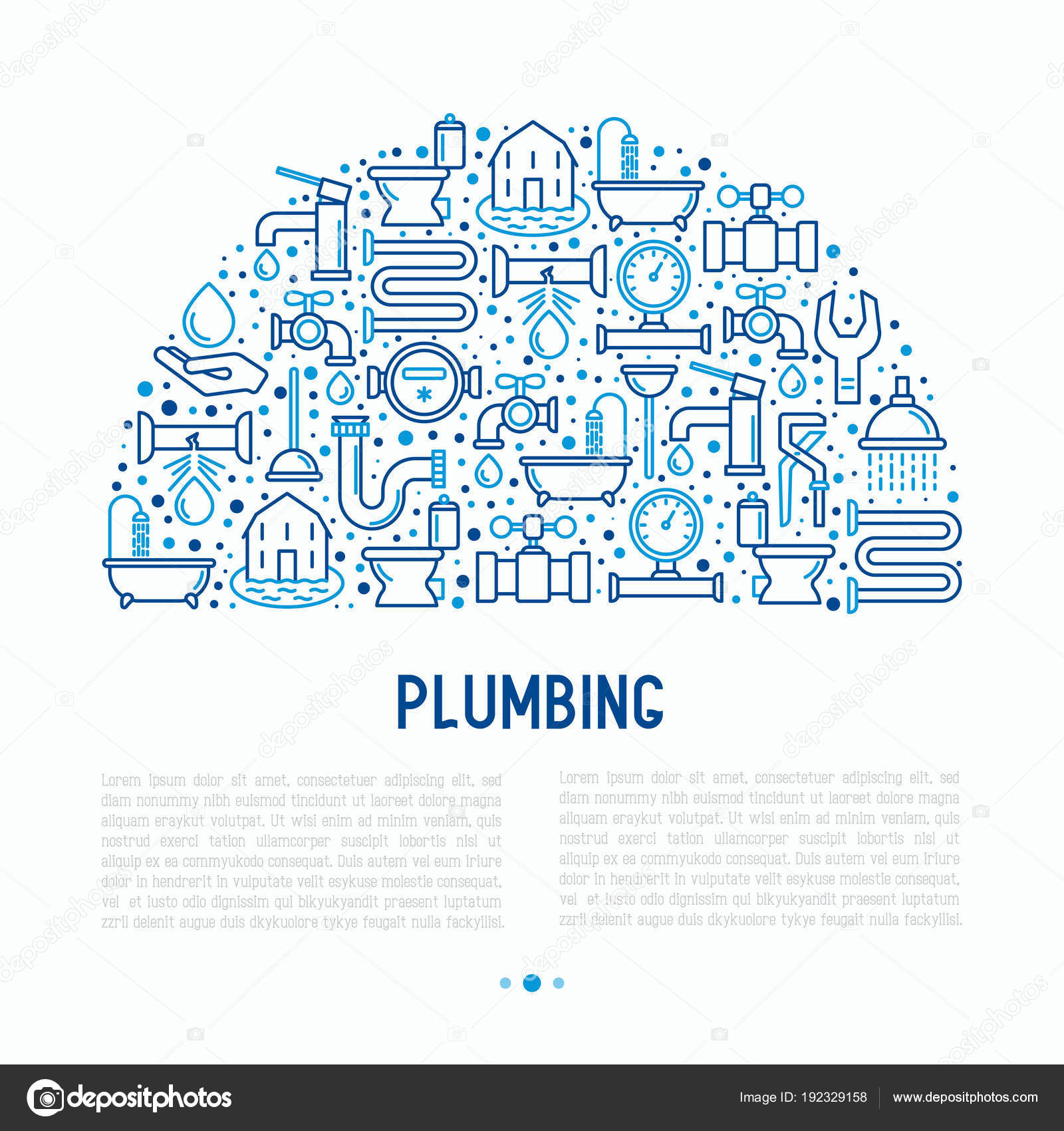 Plumbing concept in half circle — Stock Vector © AlexeyBlogoodf ...