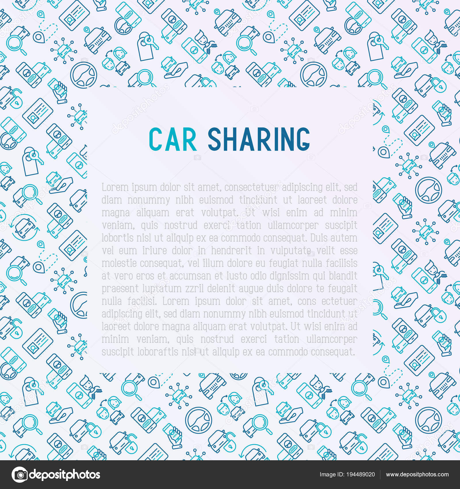 Автомобиль, обмена концепции в круг с тонкой линии иконы.