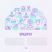 Photo Epilepsy concept in half circle