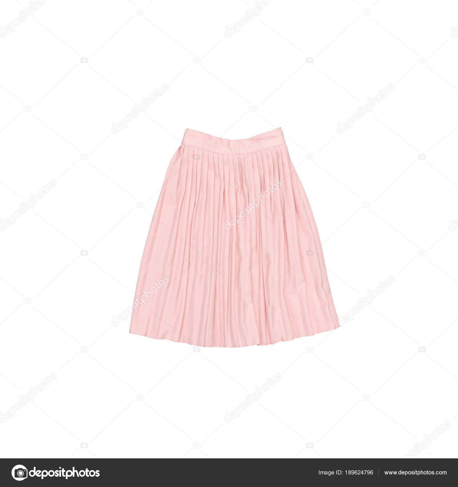 Falda plisada color rosa. Concepto de moda. Aislado — Foto de stock ... 7d1e3ba5663c