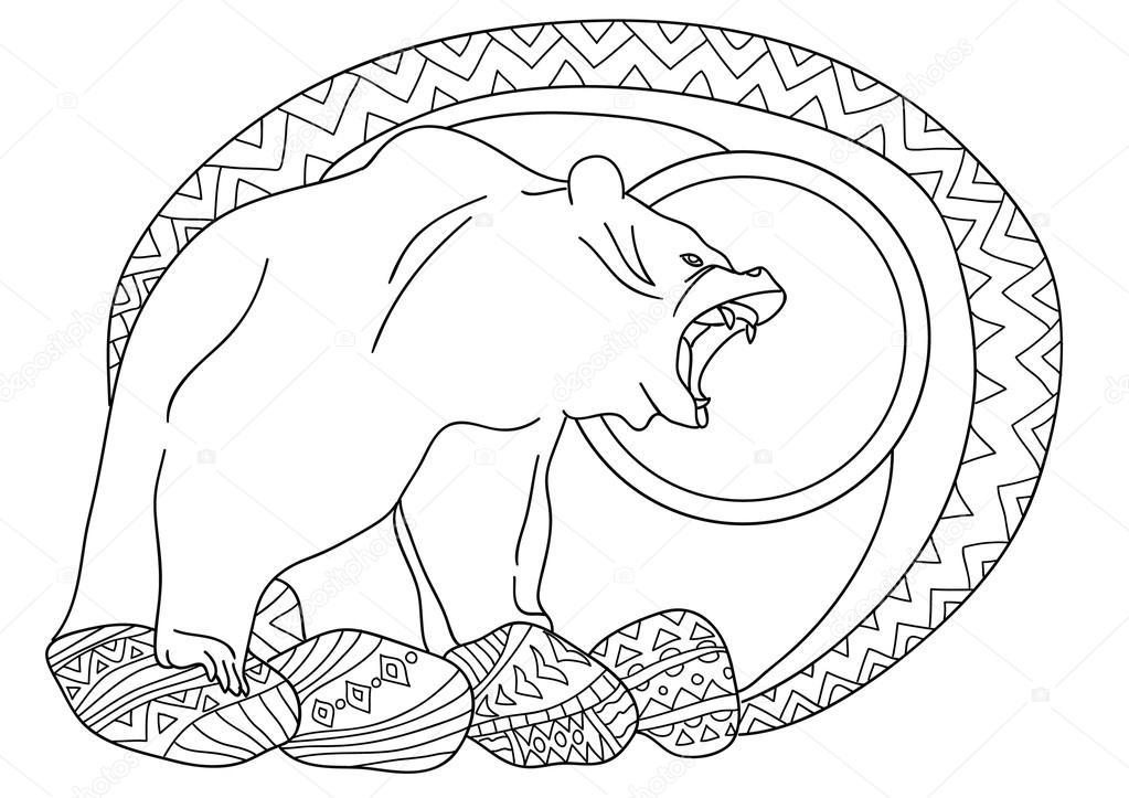 Imágenes: animales de la taiga para dibujar | Línea de diseño de ...