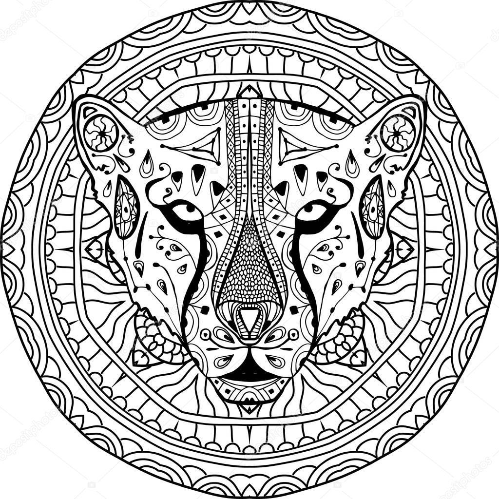 Element für Ihr Design. Nationalen ethnischen Kreismuster mit dem ...