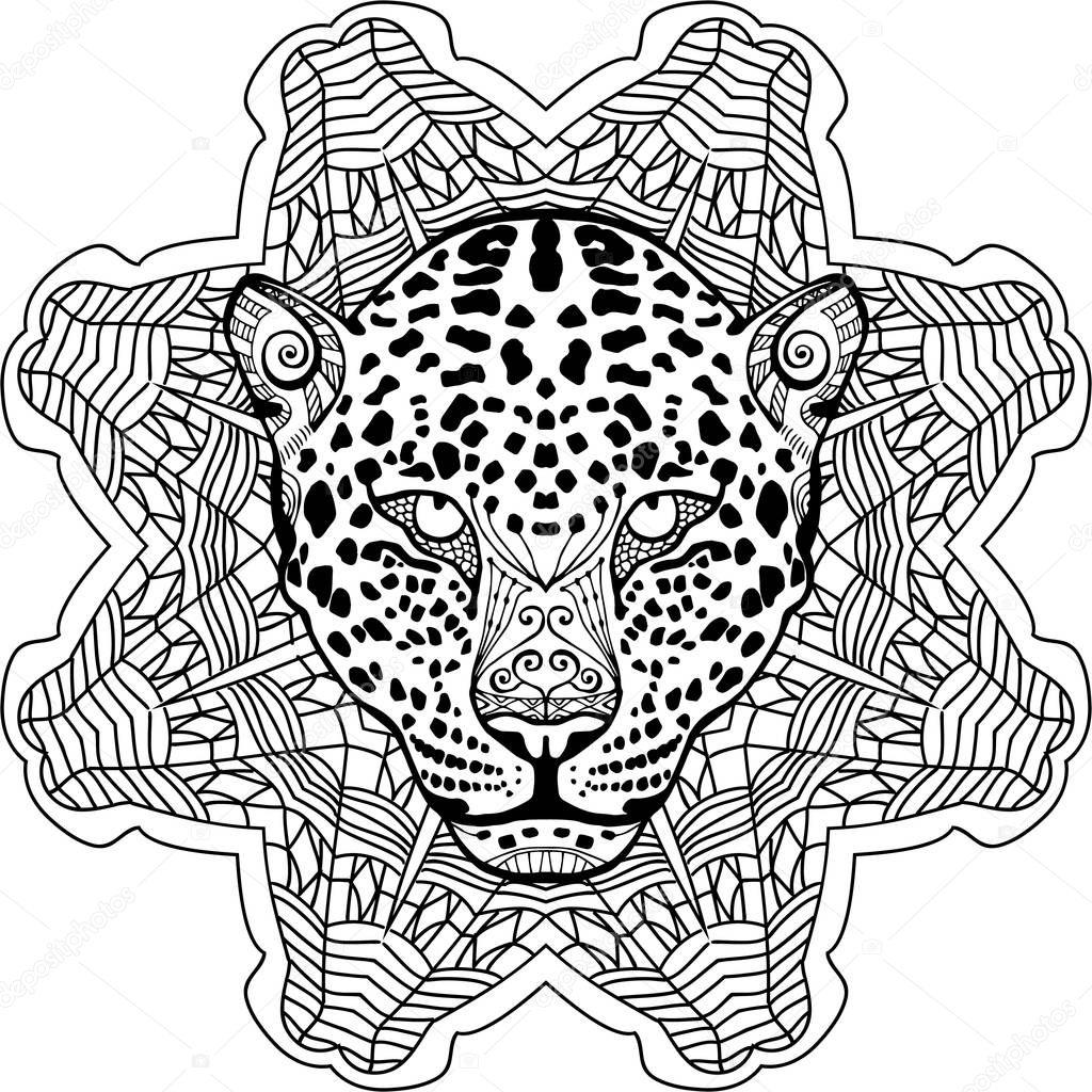 Frais Coloriage Mandala Tete De Leopard 30000