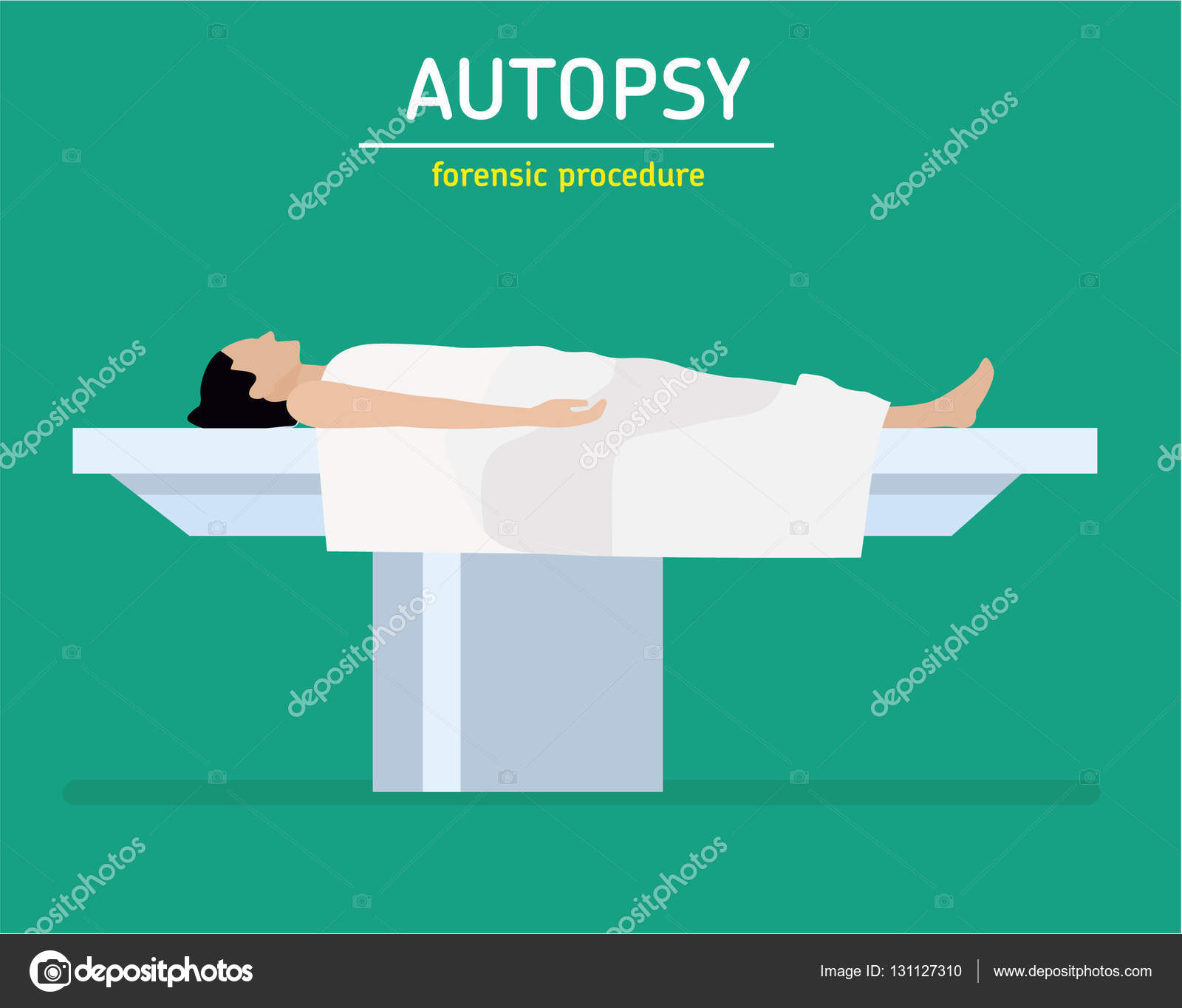 Illustration De Plate Procedure Judiciaire L Autopsie La Femme
