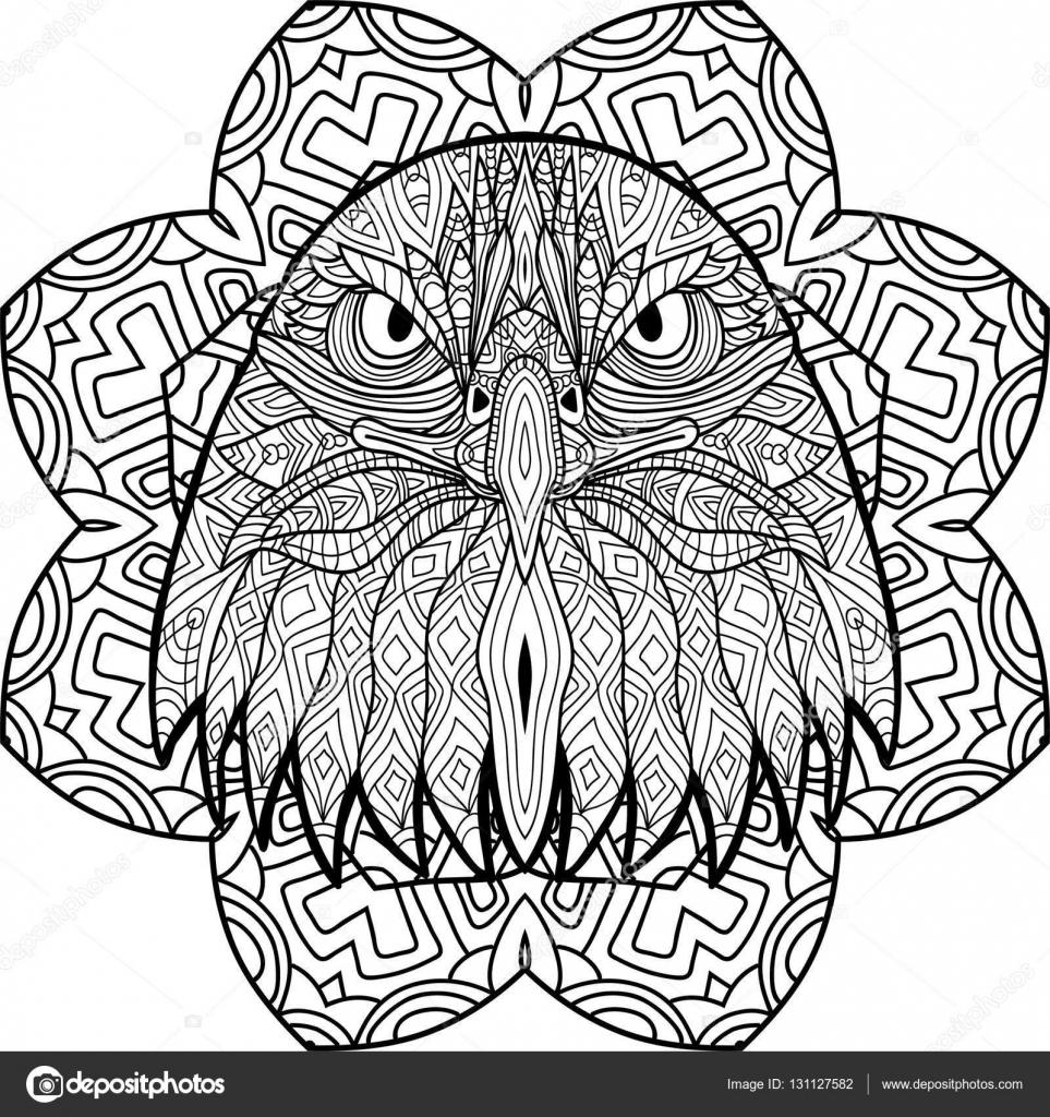 mandala kleurplaten adelaar