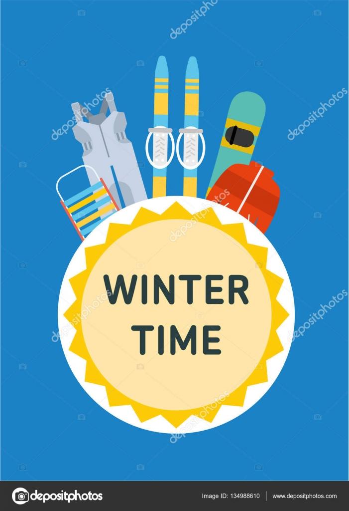 6a2450efa21 Έλκηθρο, σκι, snowboard, φόρμες, μπουφάν - παιδική χειμερινή δι–  εικονογράφηση αρχείου