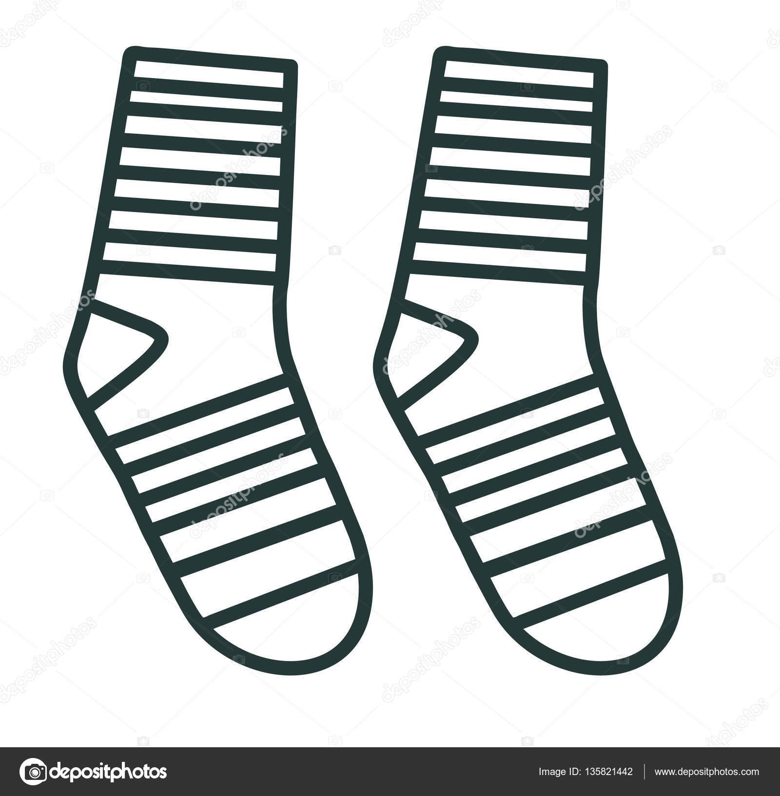 ec65fc0628 Linha ícone meias de criança. Equipamento desportivo — Vetor de Stock