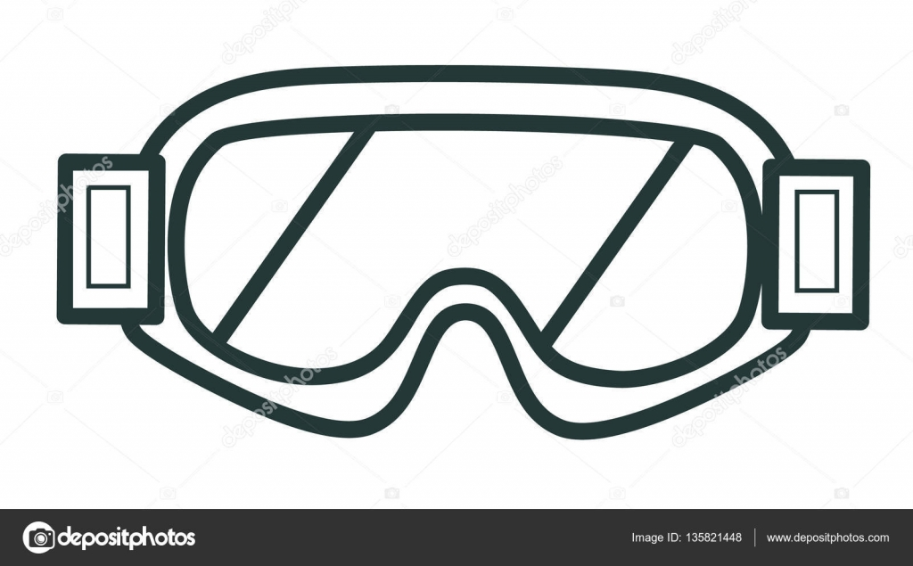 779358609e5c Line icon winter glasses for snowboarding. Sports equipment. Winter sports  pictogram collection. — Vector by aleancher
