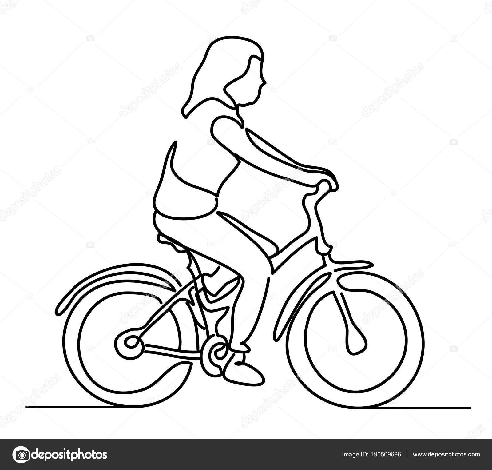 mulher andando de bicicleta vestindo roupas de verão jovem vetor