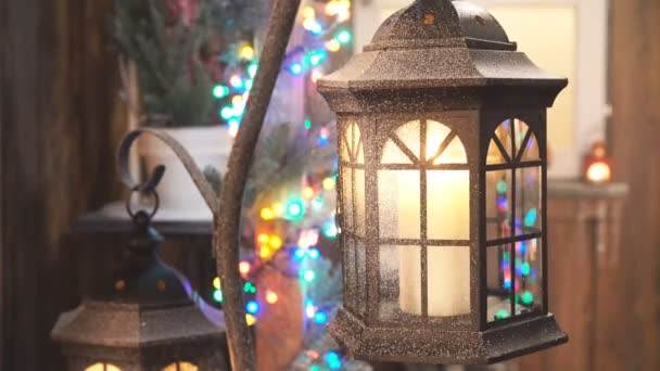 Christmas Decorations, lamp with candle.
