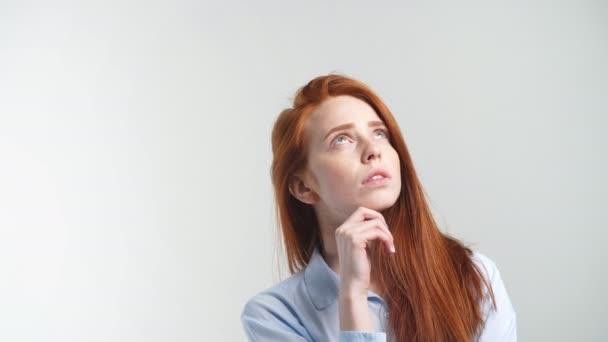 Myšlení zrzka dívka vyhledávání
