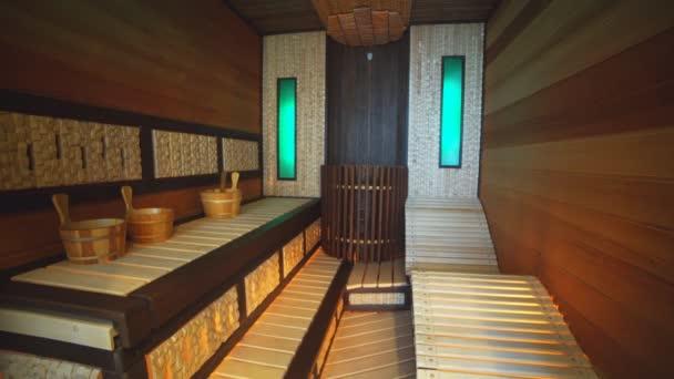 Luxury Apartment Interior, Sauna.