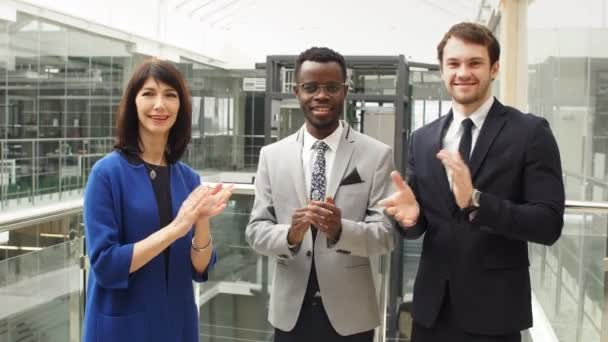 Multiethic Business Colleagues Clapping Hands Themselves or They Leader with Increase.