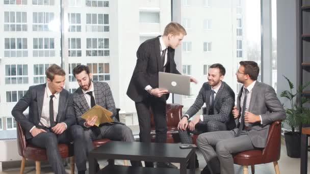 Positive business team in office