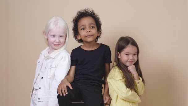 portrait of beautiful kids with natural unusual beauty, appearance