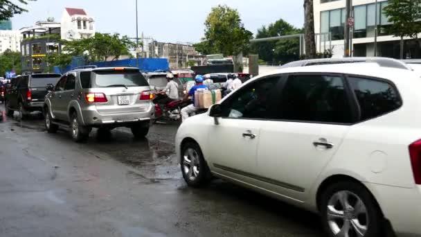 Trafic jam in rain