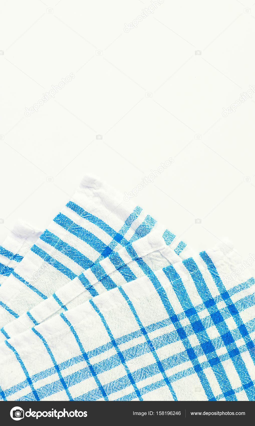 Türkis, blaues Tuch, Küchentuch mit Karomuster, iso — Stockfoto ...