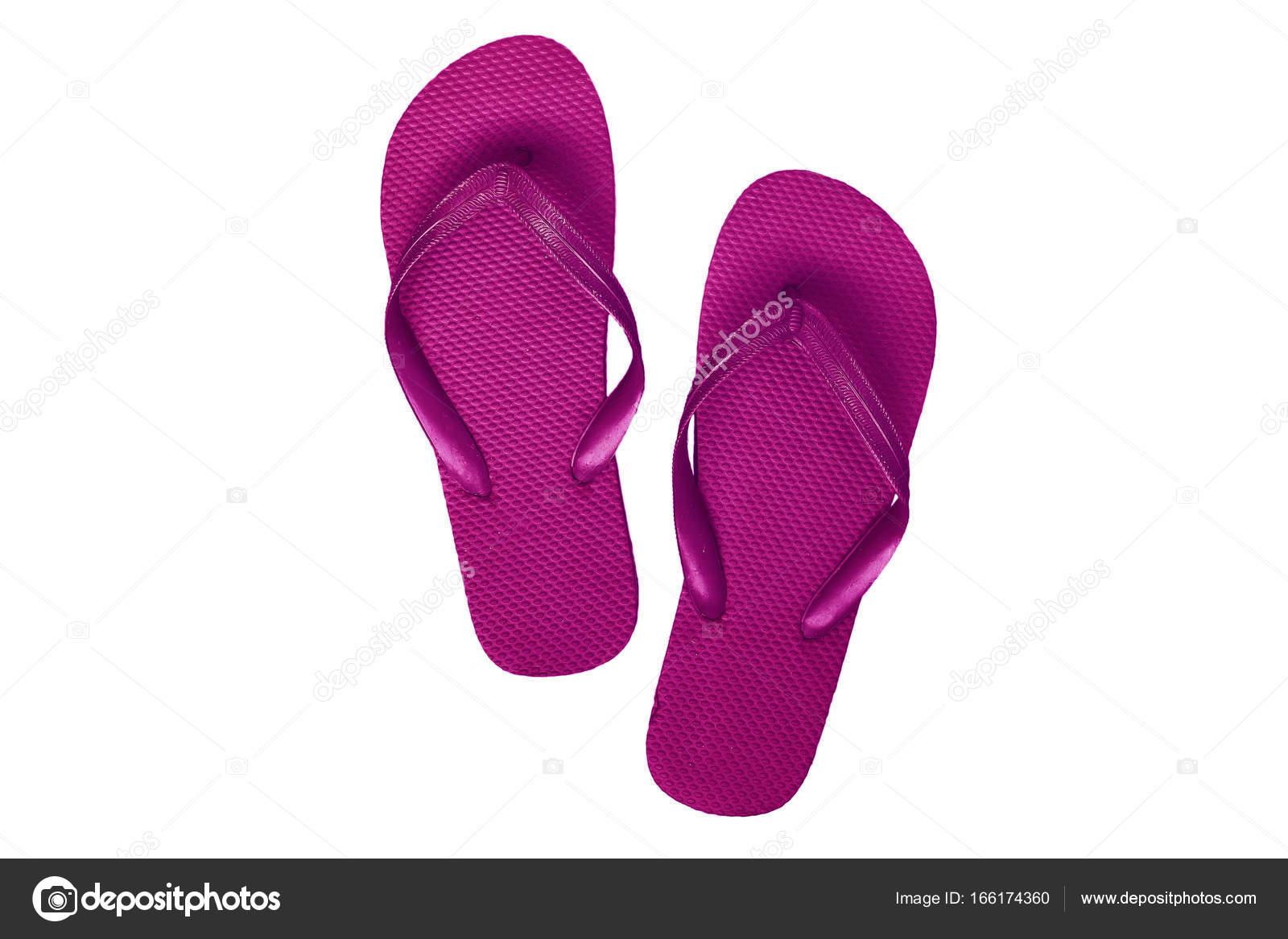 755fe4815c627 Pink-purple rubber flip flops