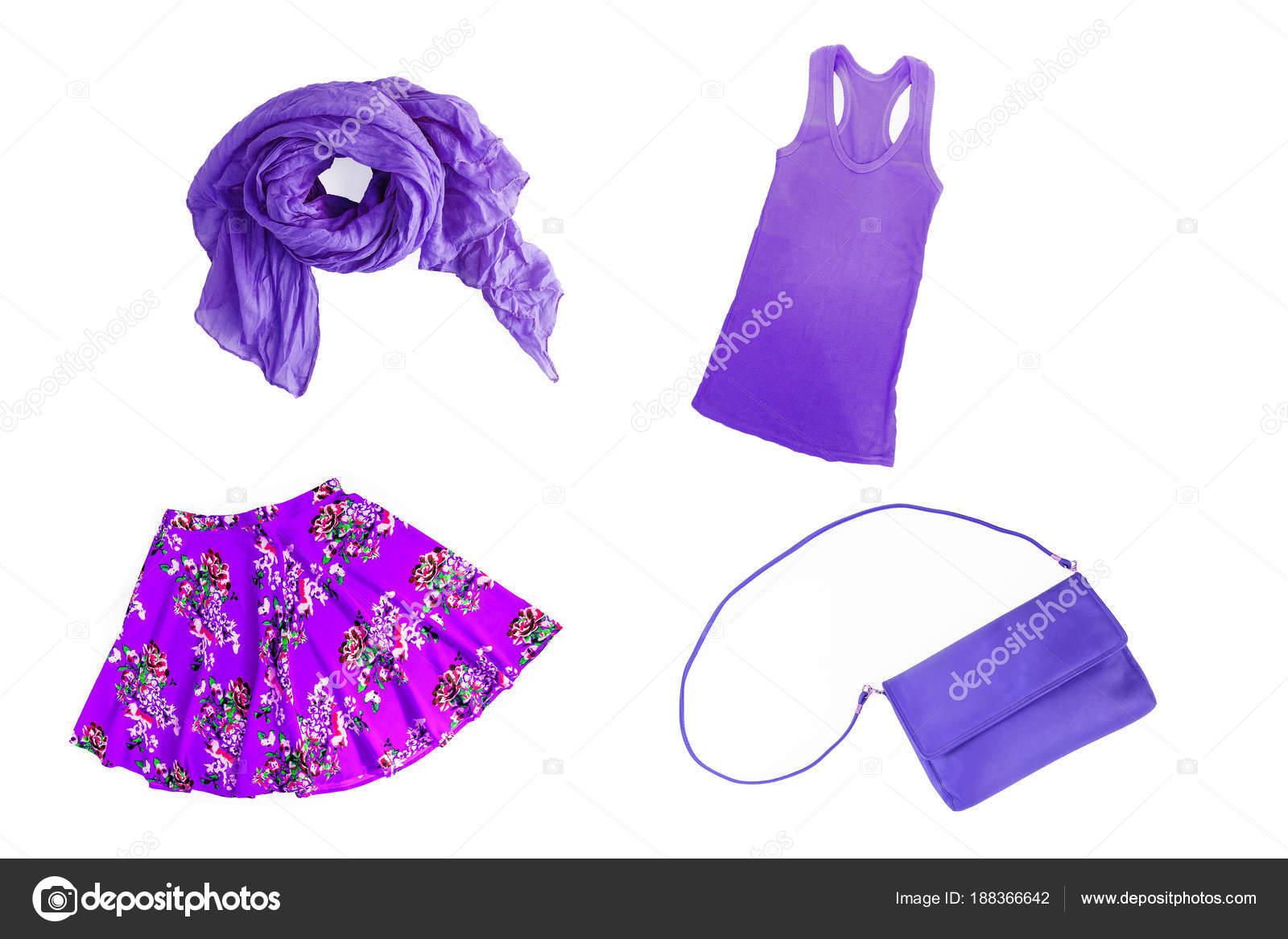 3605fb9f42e κολάζ της μόδας άνοιξη-καλοκαίρι λιλά-λιλά-μωβ γυναικεία c ...