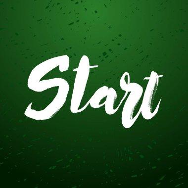 Start lettering design.