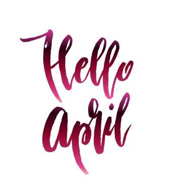 Hello april quote.