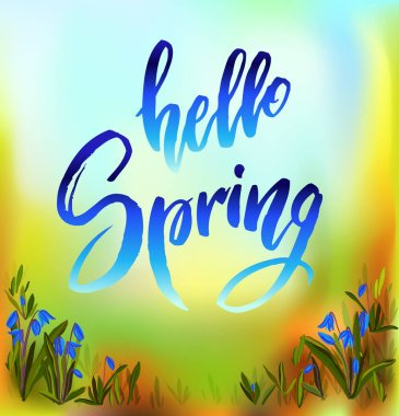 Hello spring quote.