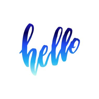 Hello calligraphy note