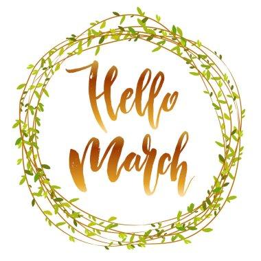 Hello march quote.