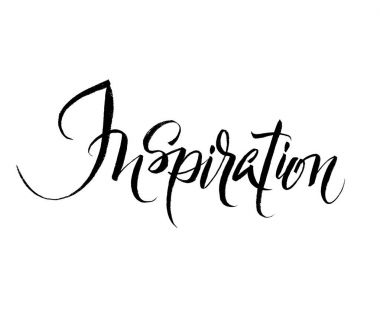 Inspiration. Brush hand lettering illustration.