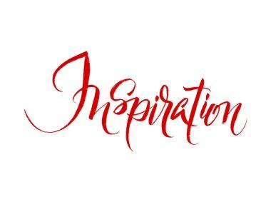 Inspiration. Brush hand lettering illustration.
