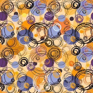 Geometric abstract circles background