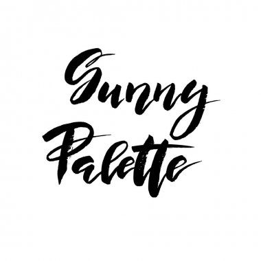 Sunny palette brush lettering. Vocation cards, banners, posters design.