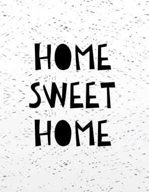 Hand drawn calligraphy lettering home sweet home.