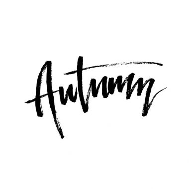 Autumn brush lettering.