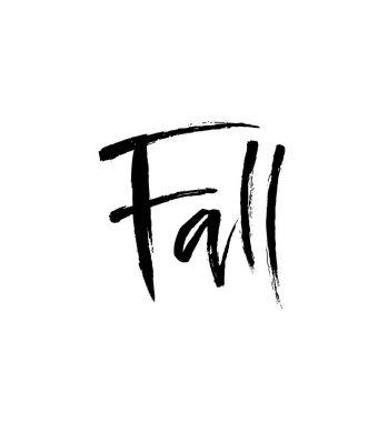 Fall brush lettering.