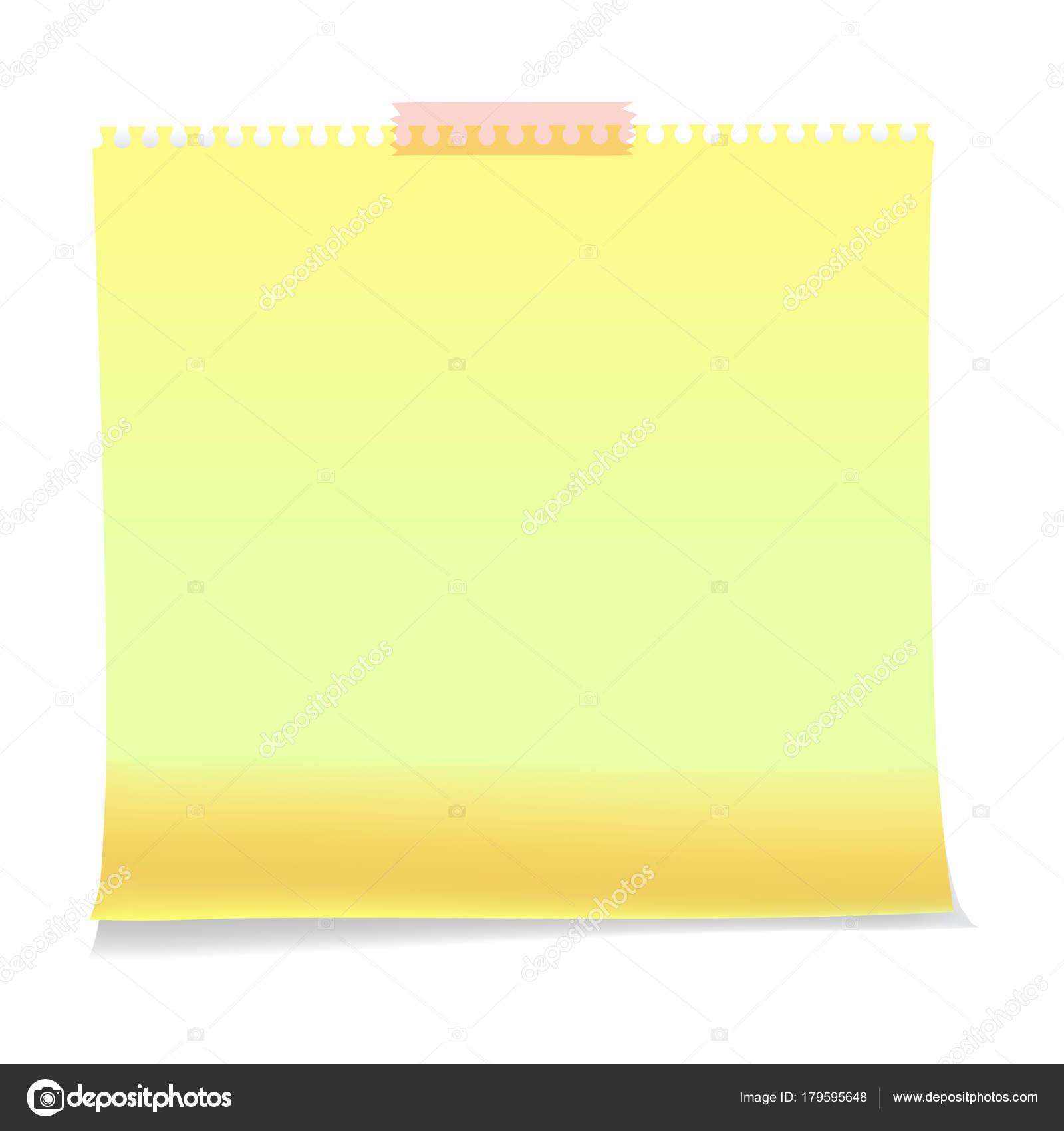Realista notas adhesivas de papel plantillas de hojas, recordatorios ...