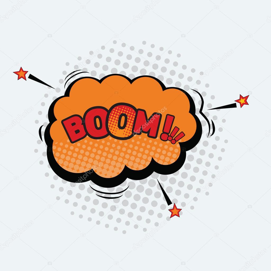 Boom - Comic-Sound-Effekte in Pop-Art-Vektor-Stil — Stockvektor ...