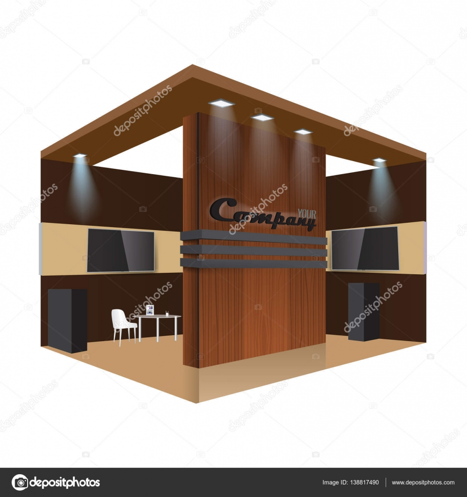 D Exhibition Stand Free Download : Creative exhibition stand design. booth template. corporate identity