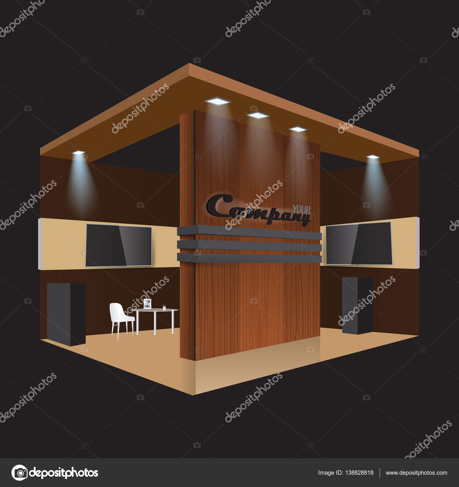 Creative Booth Exhibition : Creative exhibition stand design. booth template. corporate identity