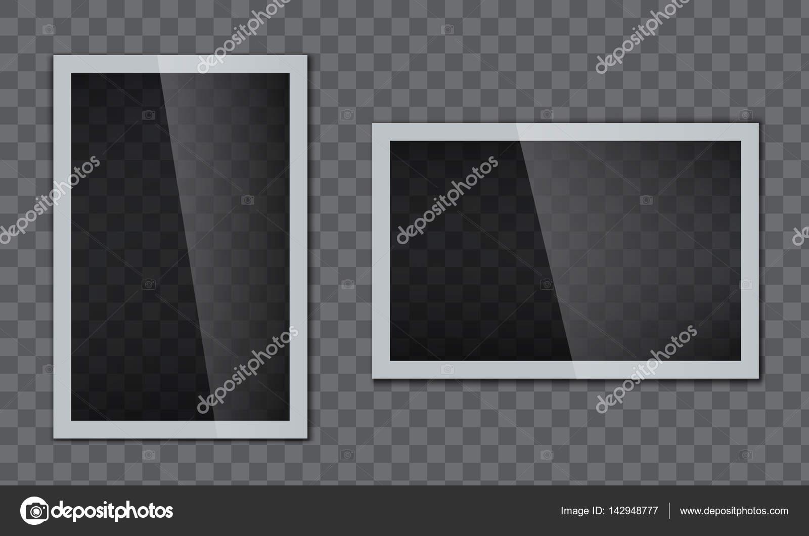 Realistische Glossy glänzend Bilderrahmen mit Glas-Effekt ...