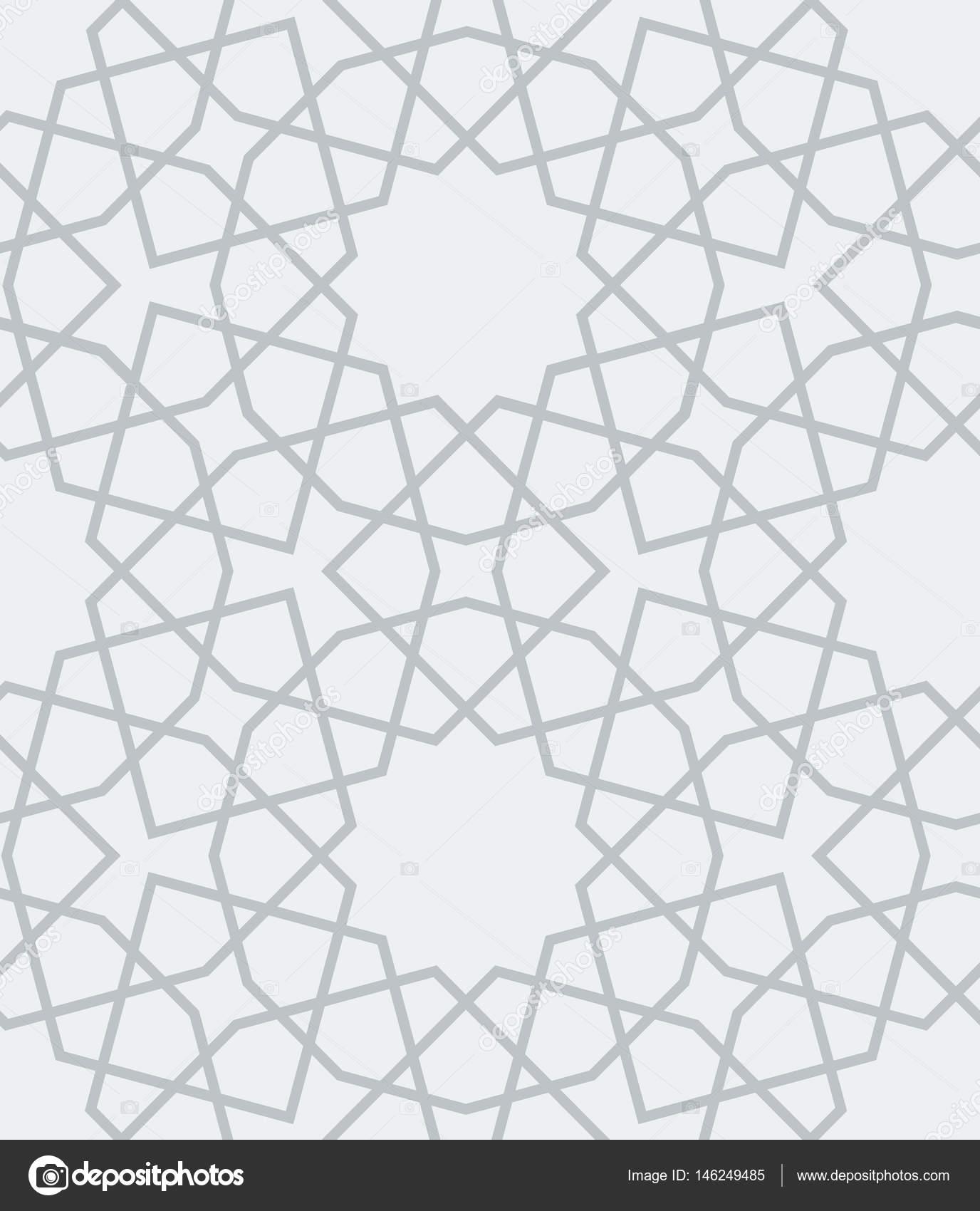 Ornamental árabe geometrial de patrones sin fisuras. Colocación de ...