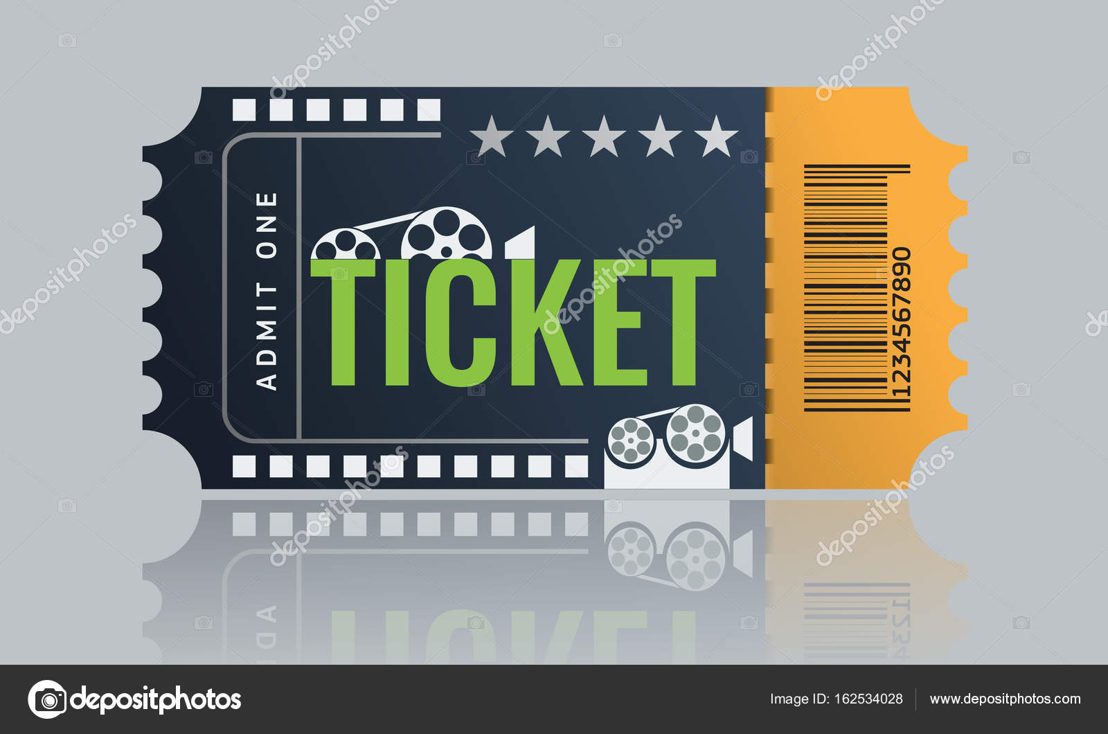 Cinema ticket sample template design. Trendy Vector. — Stock Vector ...