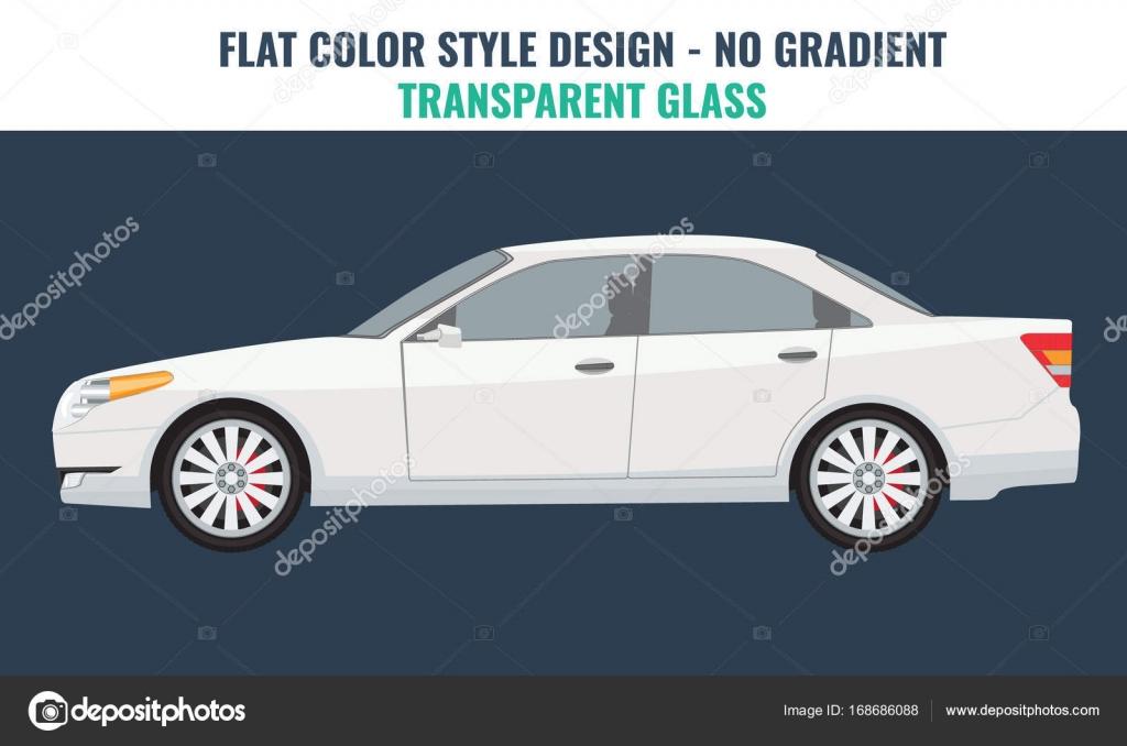 Auto-Vektor-Vorlage auf weißem Hintergrund. Business-Limousine ...