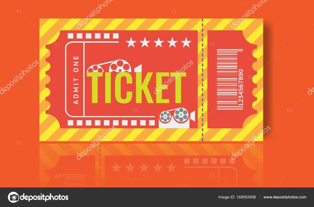 Cinema ticket sample template design. Trendy Vector. — Stock Vector ...