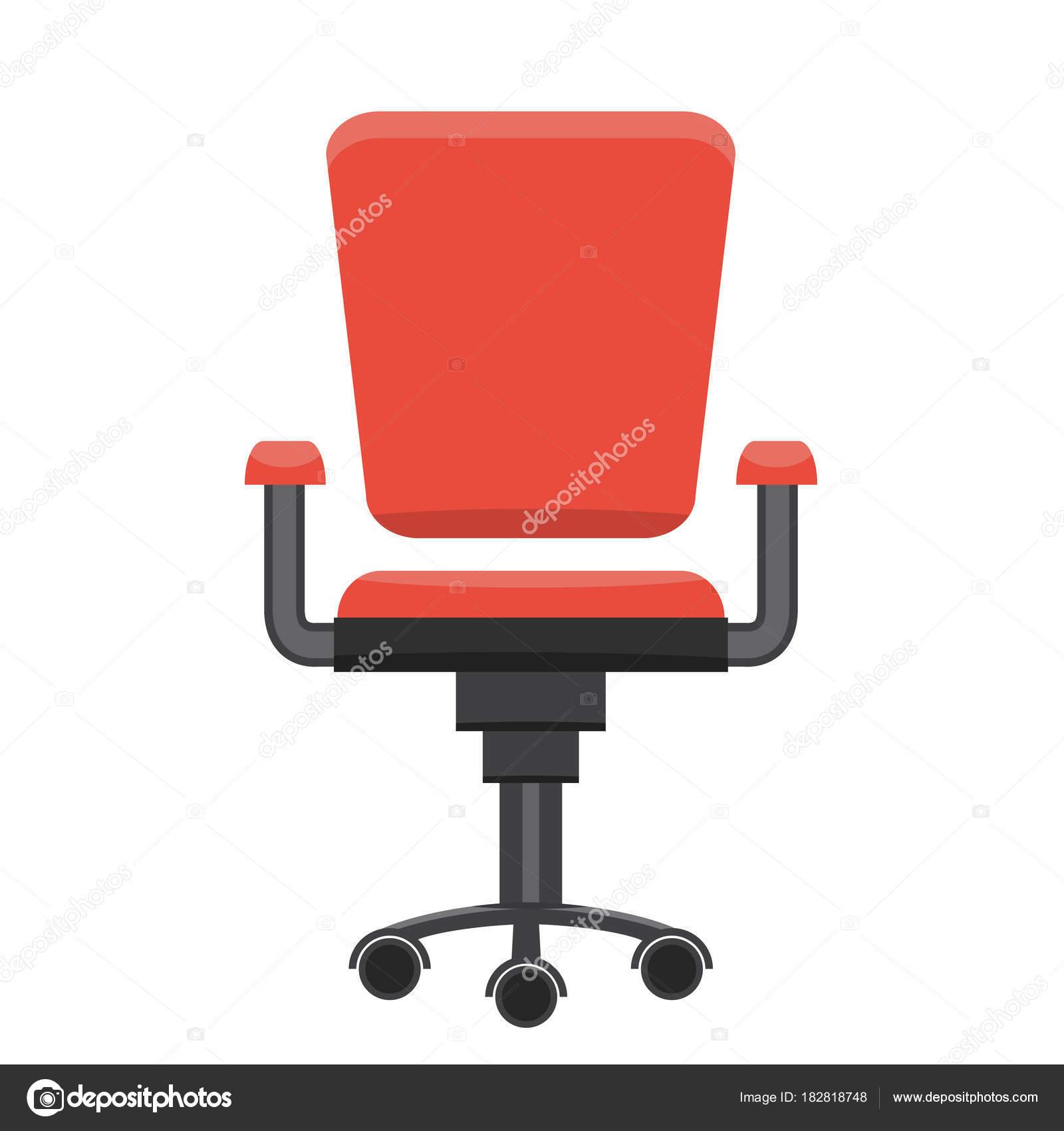 Chaise De Bureau Moderne Design Plat Vecteur Image Vectorielle