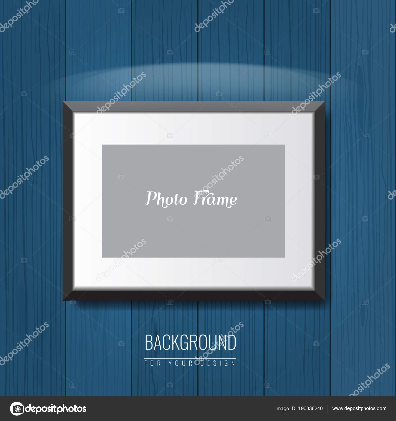 3D leeren Bilderrahmen an der Wand. Vektor-Werbung-Hintergrund für ...