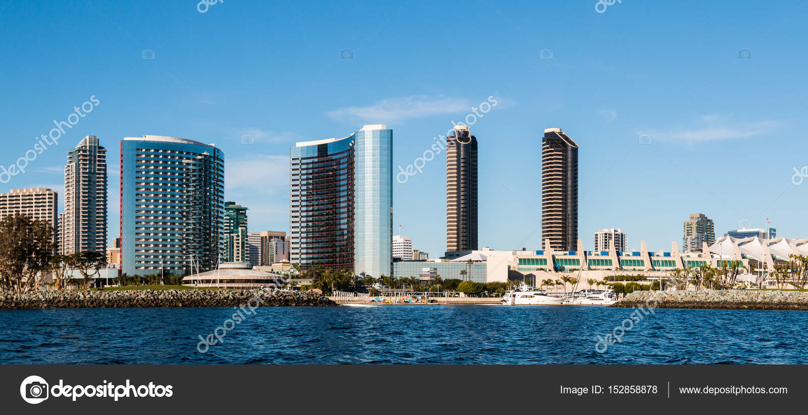 Panorama Of Downtown San Diego Waterfront Skyline Stock Editorial Photo C Sherryvsmith 152858878