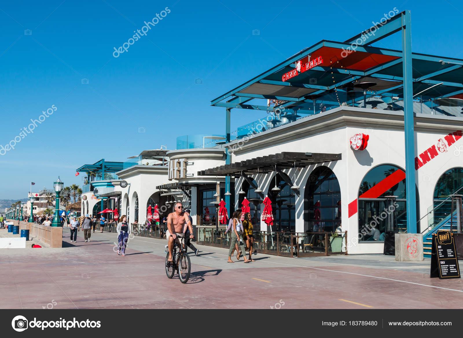 San Diego California February 2018 People Bike Walk Mission