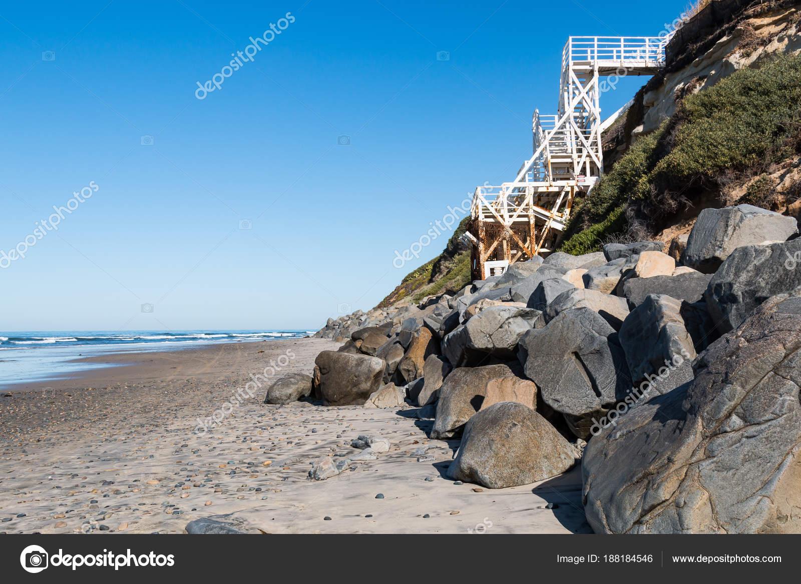 Swami van beach encinitas californië met trap biedt toegang tot