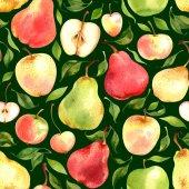 Vzor bezešvé akvarel s ovocem
